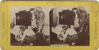 Wher's Il Rat ? Scena Da Genere Foto Stereo Vintage Albumina
