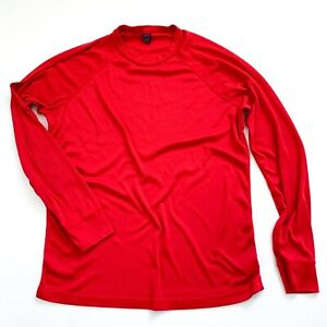 Vintage Patagonia Capilene Base Layer Long Sleeve Large Red