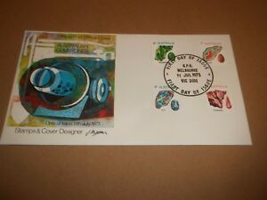 POST OFFICE FIRST DAY COVER ~ AUSTRALIAN GEMSTONES 1973  EXCELLENT FDC