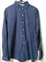 Chaps Easy Care Mens Size XL Blue Multi-Color Plaid Button Up Long Sleeve Shirt