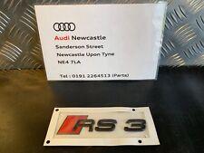 Genuine Audi 'RS3' Rear Badge Gloss Black