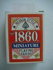MINIATURE MODERN  PLAYING CARDS DECK 1 RED BOX NIOB