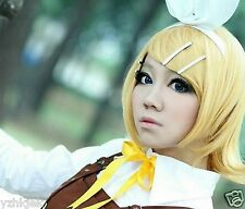 Vocaloid Kagamine Rin Short Blonde Cosplay Hair Full Wig