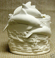 Ceramic Bisque Planter Dolphin Hurricane Scioto Mold 3600 U-Paint Ready To Paint