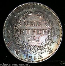 1840 India One Rupee  KM # 457.1