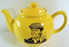 DEL BOY Lovely Jubbly YELLOW CERAMIC TEAPOT British Television Comedy TROTTERS