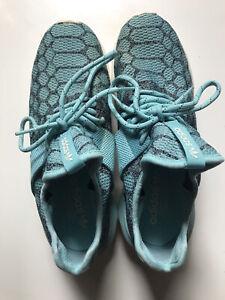 Adidas Originals Tubular Boost Primeknit Shoes Blue Spirit White Size US 91/2