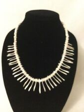 Vintage long Shell spike Necklace 1980s