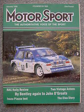 Motor Sport (Jan 1986) Ford Sierra RS Cosworth, Scorpio 4x4, Macau Grand Prix