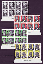 Zimbabwe 2007 Heroes Imprint Blocks, MNH (sheet margin)