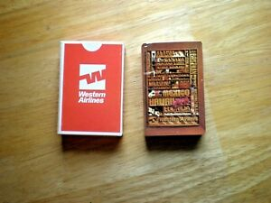 VNT PLAYING CARDS WESTERN AIRLINES