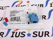 NSOP Siemon MX5-F06 Copper Outlet MAX UTP 5e RJ45 Flat Blue Punch down T568A/B