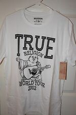 New Authentic True Religion Men White T-Shirt Big Buddha World Tour Retail $69