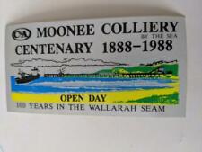Retro Mining Sticker - C&A Moonee Colliery Centenary 1888-1988 Open Day