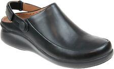 Clarks Ladies Mules Clogs Shoes UN LOOP2 STRAP Black Leather UK 5.5 / 39