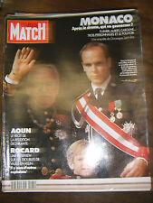 Paris Match N° 2161 25 octobre 1990 Rainier Monaco Aoun Gérard Depardieu Mickey