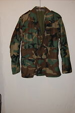 Mens Cold Weather Field WOODLAND CAMOUFLAGE Coat/Jacket SMALL SHORT Golden Mfg