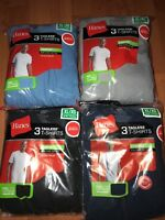 Hanes Mens Pocket T-Shirt 6 Pack Tagless All Colors All Sizes 100% Cotton !!