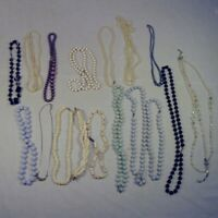 Lot of 16 Beaded Necklaces Long and Short Costume