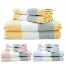 Luxury 100% cotton super soft striped towels hand bath towel ,  4 piece bale set