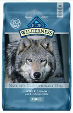 Adult Dog Food Dry Natural Blue Buffalo Wilderness High Protein Grain Free 11lbs