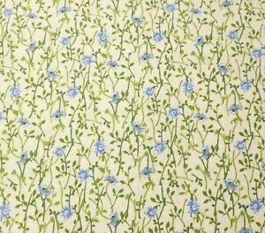 1 yd Sunshine Bouquet Wilmington Blue Floral on Ecru