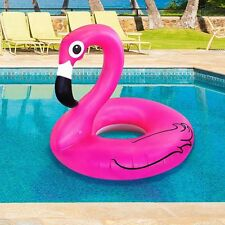 Giant Pink Flamingo Pool Float Inflatable 4 FT WIDE Blow Up Raft -Big Mouth Toys