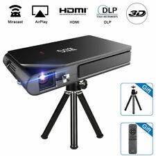Tragbar Wifi Heimkino Beamer 3D Pocket DLP Projektor Airplay for iPhone HDMI USB