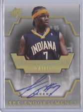 JERMAINE O'NEAL 2007-08 UPPER DECK SPX ENDORSEMENTS AUTO PACERS