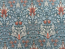 "William morris curtain fabric ""snakeshead' 2.6 mètres (260cm) chardon/russet"