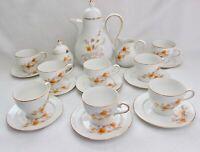 Scherzer Bavarian Coffee Pot with Creamer/ Sugar and 8 tea cups~9 saucers