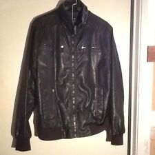 X-Ray Jean Men's Faux Moto Leather Jacket - Large