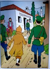 TINTIN 21 POSTERS NEUFS INÉDITS  40 x 30 cm-COMPLET  - CASTERMAN 1986