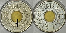 USA Lot of two Garden State Parkway Car Fare Only tokens: with + without OC mark