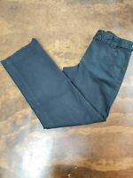 Women's Talbots Size 4P Petite Stretch Chino Pants Black Career