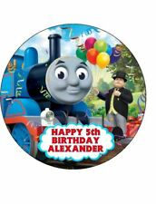 THOMAS THE TANK ENGINE BIRTHDAY 19cm Round PERSONALISED Edible ICING Cake Topper