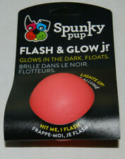 Flash & Glow Jr Size Glow in the Dark Dog Toy Floats Lights Up Non Toxic Motion
