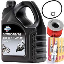 K&N Oil Filter 4 NGK Spark Plugs and 4 Litres Super 4 10w40 Oil