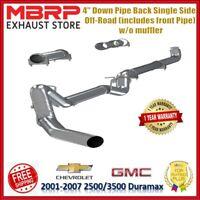 "MBRP 4"" Down Pipe Back Single Side For 01-07 Silverado Sierra 2500 3500 Duramax"