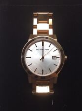Authentic Burberry Unisex BU9004 Large Check Rose Gold Stainless Steel Watch
