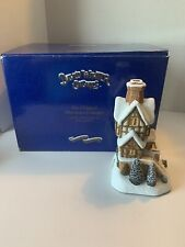 David Winter Cottages Lot Of 2 Christmas Decor Handmade And Painted W/Boxes