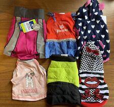 New listing Dog Clothing Size Small Lot of 6 Female Shirt Jacket Dress Fleece Sweatshirt