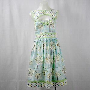 Kitten D'Amour Light Blue Printed Sleeveless Fit & Flare Dress Size 8