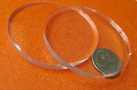 "1/4"" (.220"") Thick x 3.00"" Diameter Acrylic Circle Disc Clear 10 Pcs"