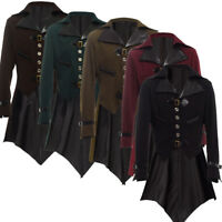 Vintage Victorian Steampunk Men's Aviator Tailcoat Cosplay Costume 5 Colors