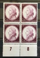 GERMANY DEUTSCHES REICH 1941 BLOCK OF 4 MOZART MI # 810   MINT/ MNH