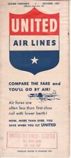 United Air Lines timetable 1951/09/30