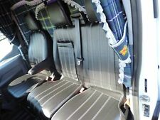 FORD TRANSIT CUSTOM 2012/13/14/15/16 Van Seat Covers- PVC Leather X121BK-GY