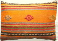 (40*60cm, 16*24cm) Textured handmade pillow cover tribal lines orange
