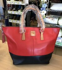 Dooney & Bourke Salmon/Midnight Smooth Leather Tobi Tote - NEW WITH DEFECTS